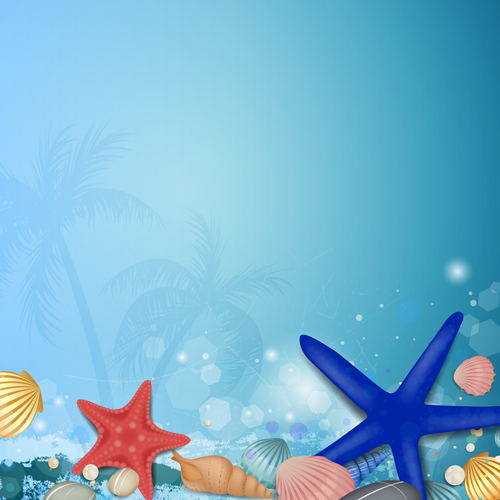 500x500 Shiny Summer Background Vector 03 Free Download