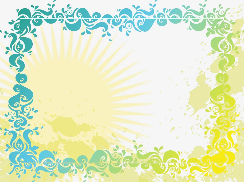 1024x765 Summer Background Vector Vector Art Amp Graphics