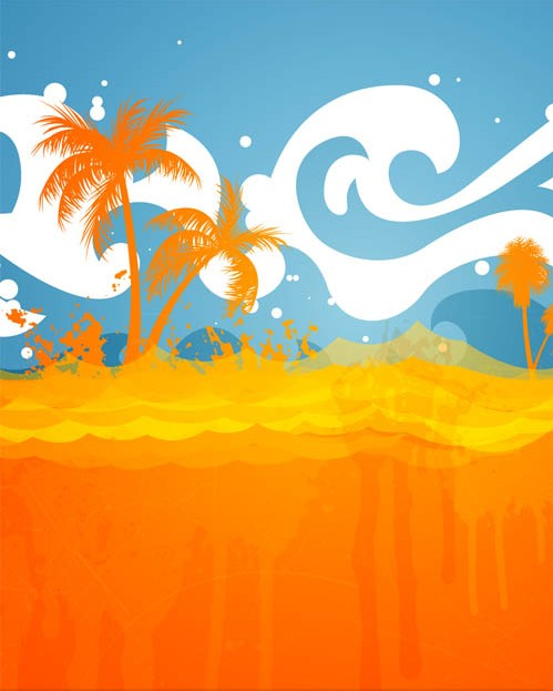499x623 Summer Beach Backgrounds Vector Ai Format Free Vector Download