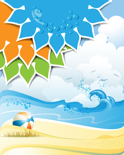 500x625 Summer Sunny Vector Backgrounds 01 Free Download
