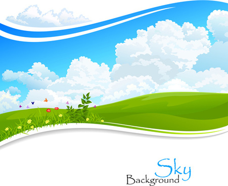 451x368 Summer Background Vector Illustration Free Vector Download (48,507
