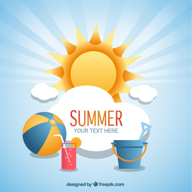 626x626 Summer Background With Beach Icons Vector Free Download