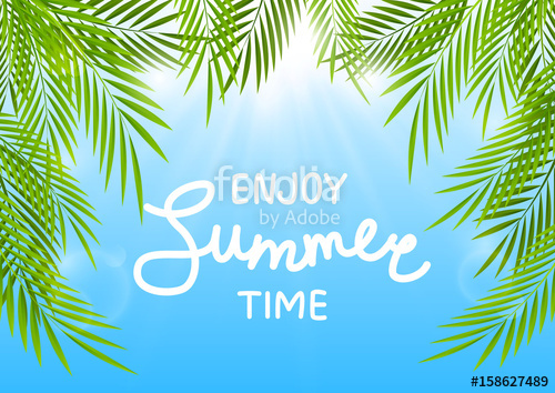 500x354 Summer Background With Palm Leaves Stock Image And Royalty Free