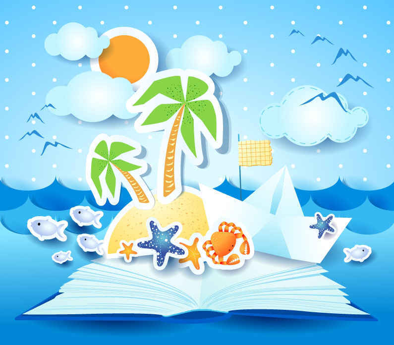 795x696 Summer Beach Background Vector Free Vector Background Download