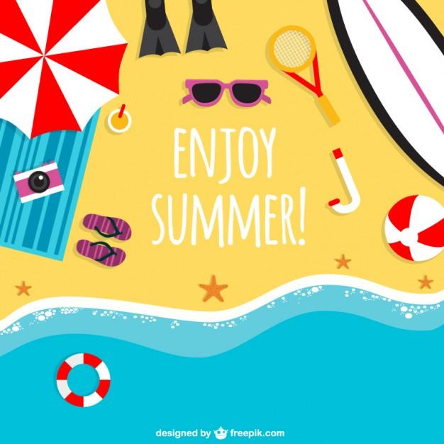 626x626 Enjoy Summer Background Vector Free Download