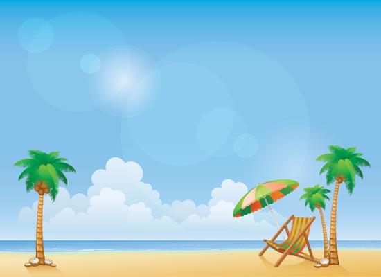 550x400 Summer Beach Background Vectors