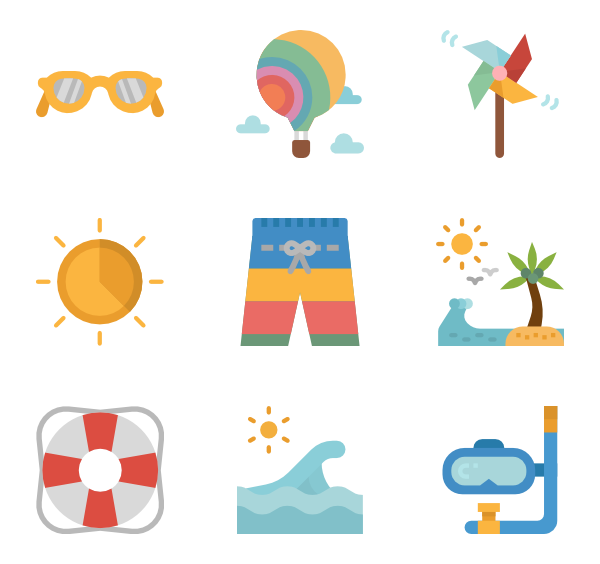 600x564 Collection Of Free Summer Vector. Download On Ubisafe