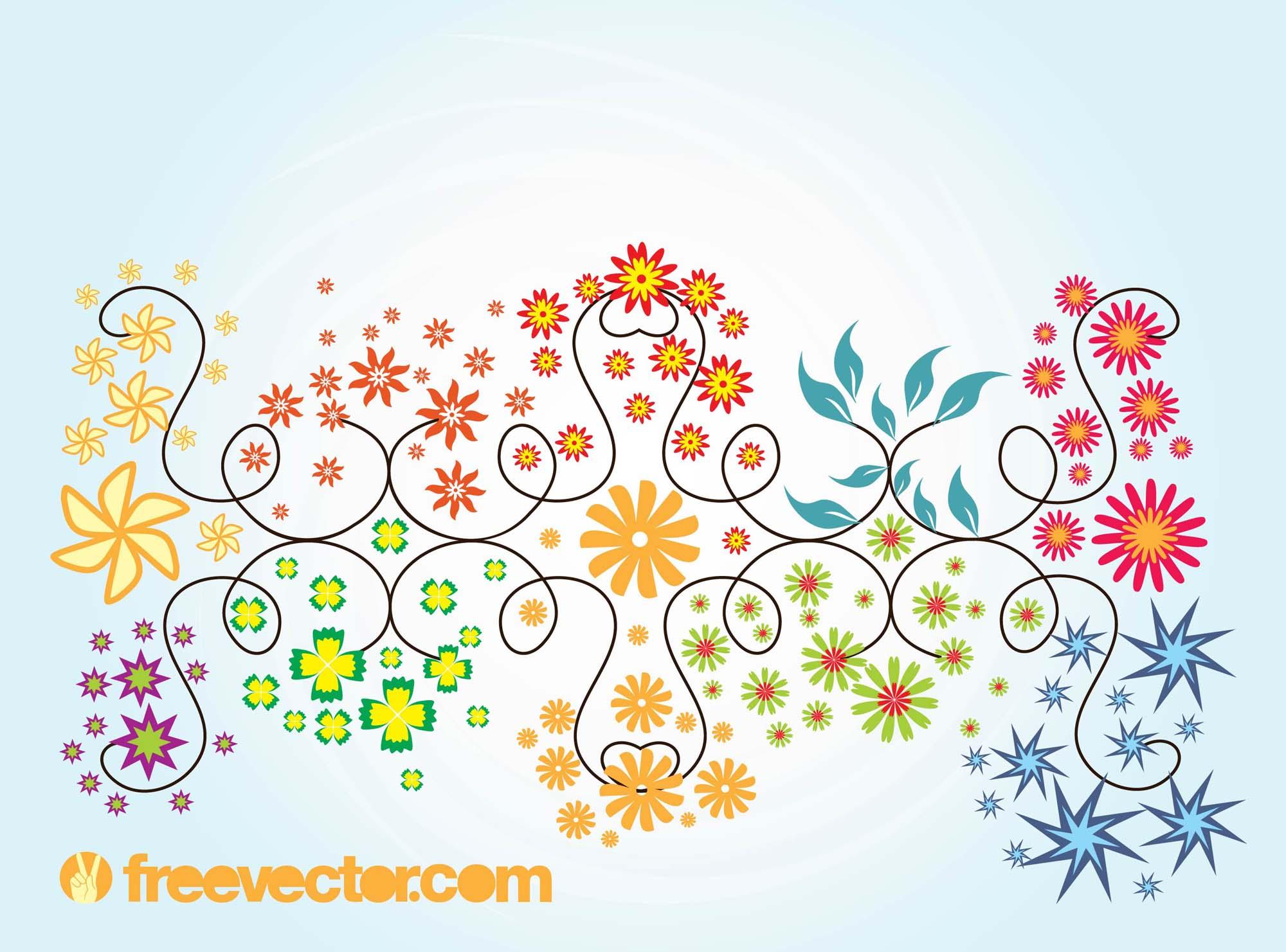 2000x1481 Floral Summer Vector Graphics Vector Art Amp Graphics
