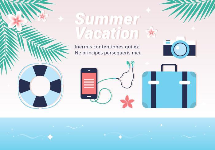 700x490 Free Hello Summer Vector Background
