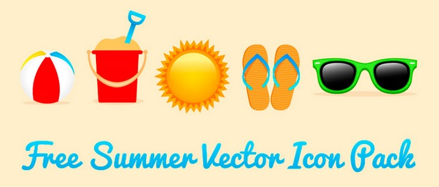 640x274 Free Summer Vector Icon Pack