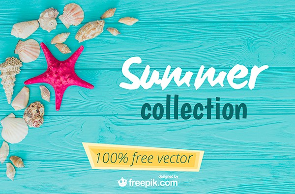 600x395 Free Vector Download Exclusive Summer Collection