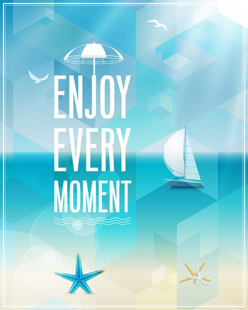 500x625 Retro Summer Elements Vector 02 Free Download