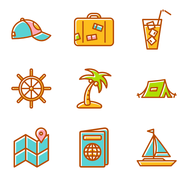 600x564 Summer Icons