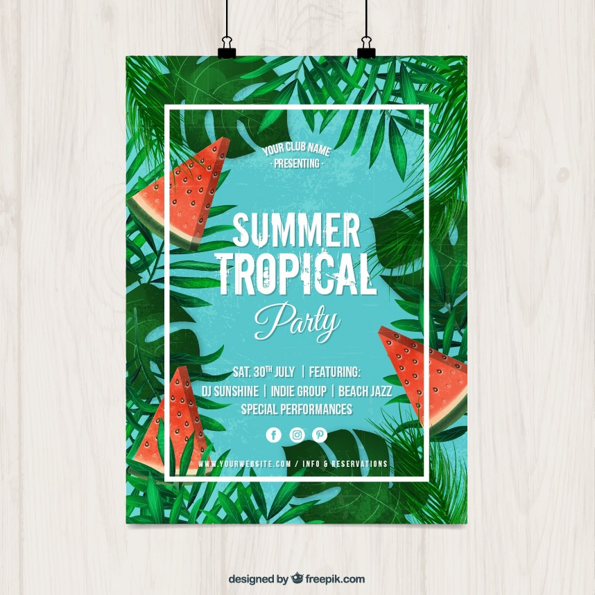 858x859 Summer Party Posters