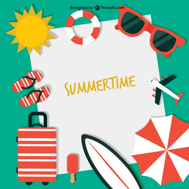626x626 Summertime Background Vector Free Download
