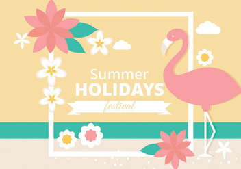 352x247 Tropical Summer Poster Free Vector Download 205127 Cannypic