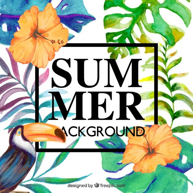 626x626 Ai] Beautiful Floral Background For Summer Vector Free Download