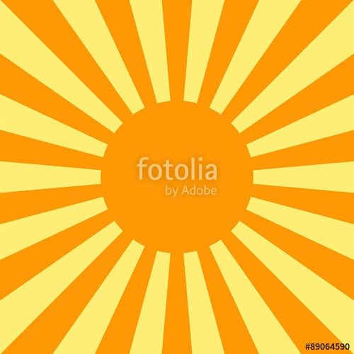 500x500 Rising Sun Background. Sun Rays On Yellow Background. Vector. Il