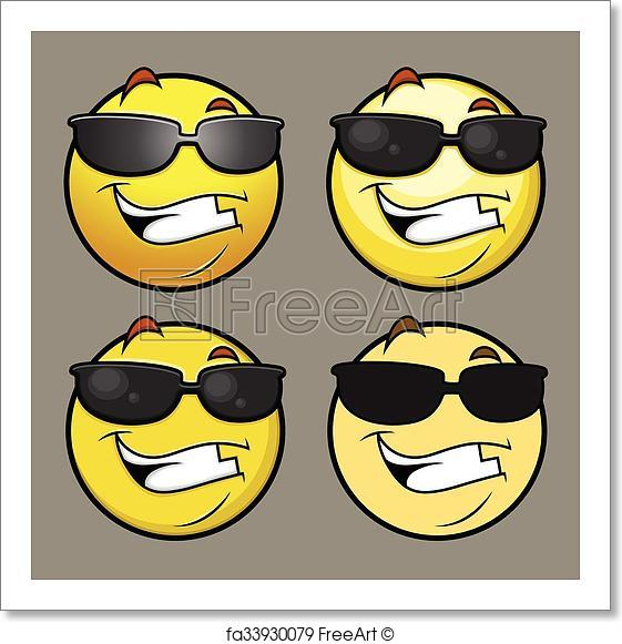 561x581 Free Art Print Of Sun Glasses Emoji Emoticon Vectors. Sun Glasses