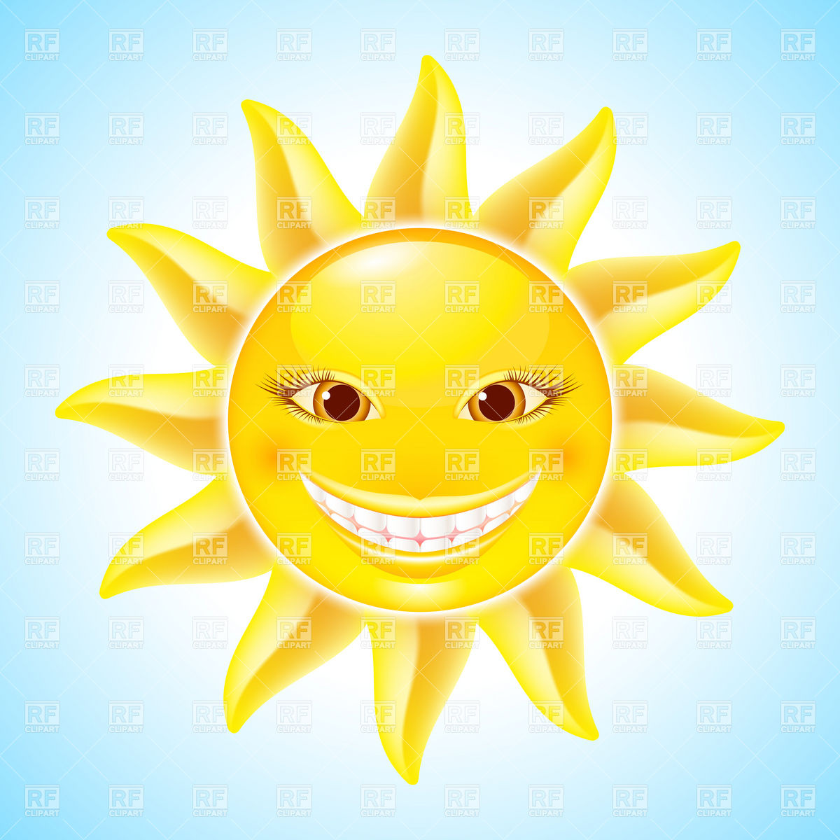 1200x1200 Happy Sun With Smiling Face Vector Image Vector Artwork Of