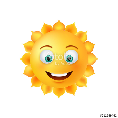 500x500 Smiley Sun Face. Vector Stock Image And Royalty Free Vector Files
