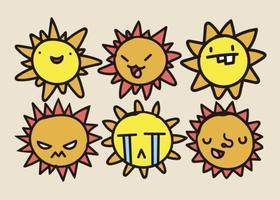 280x200 Sun Face Free Vector Art