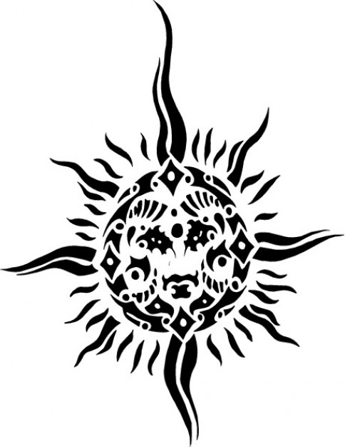 484x626 Sun Face Vector Free Download