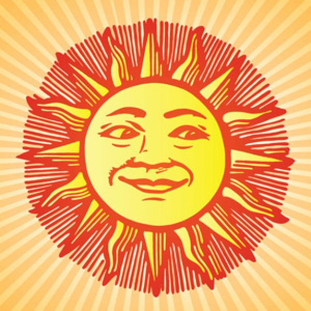 626x626 Sun With Face Vector Vector Free Download