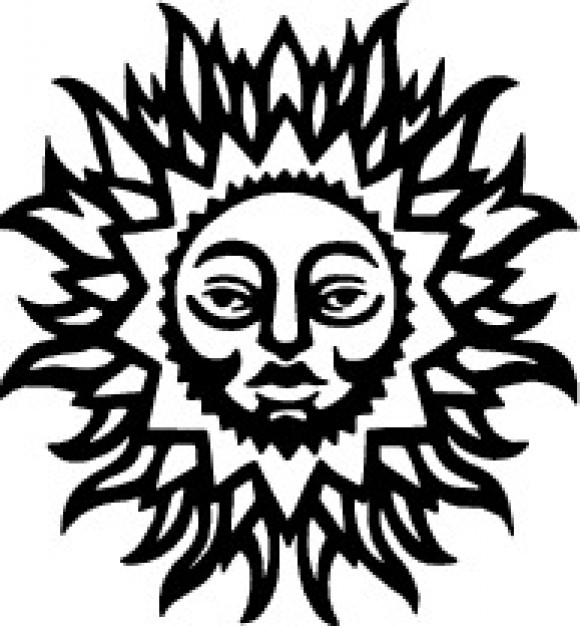 580x626 Sun With Human Face Vector Clip Art Vector Free Download