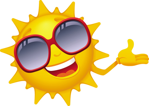 600x425 Cartoon Sun Smiley Face Vector Design 01 Free Download