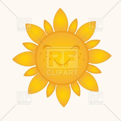 400x400 Cute Sun With Smiling Face Vector Image Vector Artwork Of