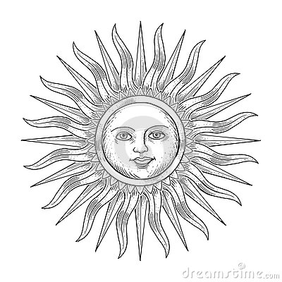 400x400 Drawn Sun Face Illustration 3454926