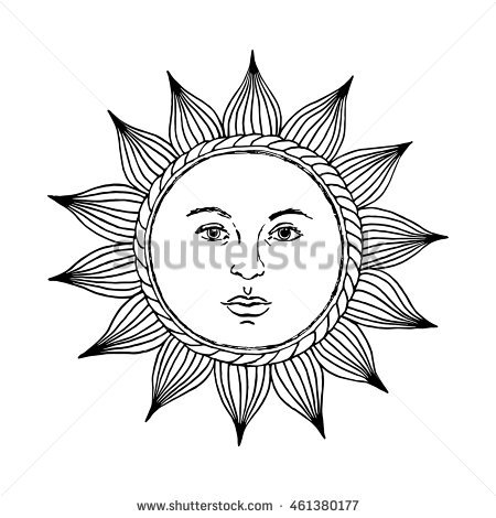 450x470 Drawn Sun Face Illustration Free Collection Download And Share
