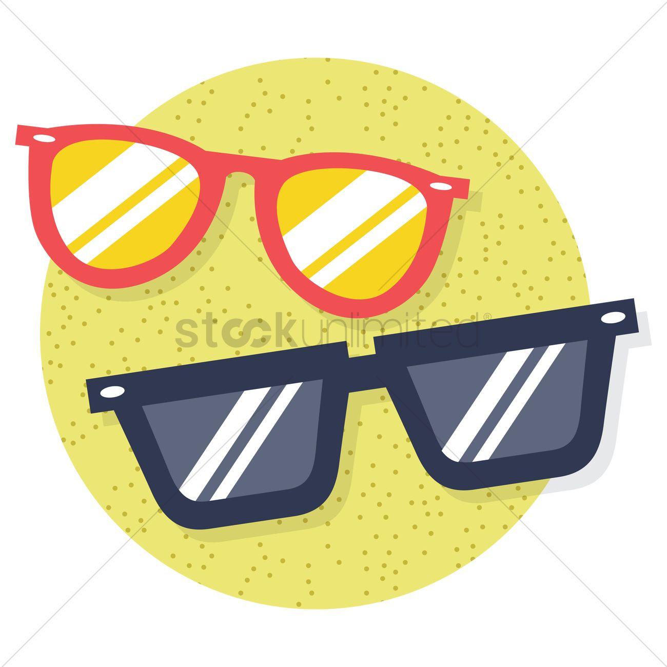 1300x1300 Free Beach Sunglasses Vector Image