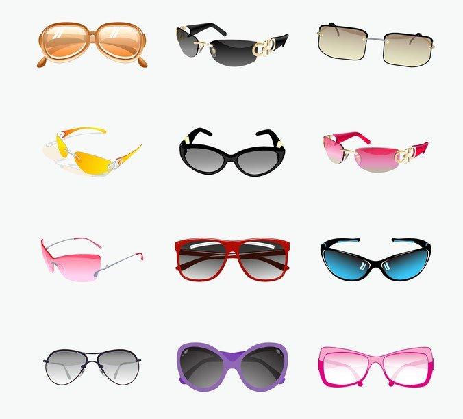 676x612 Free Trendy Sunglasses Vector Set Psd Files, Vectors Amp Graphics