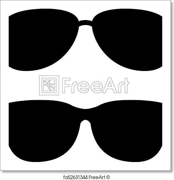 561x581 Free Art Print Of Sunglasses Vector Icon. Sunglasses Vector Icons