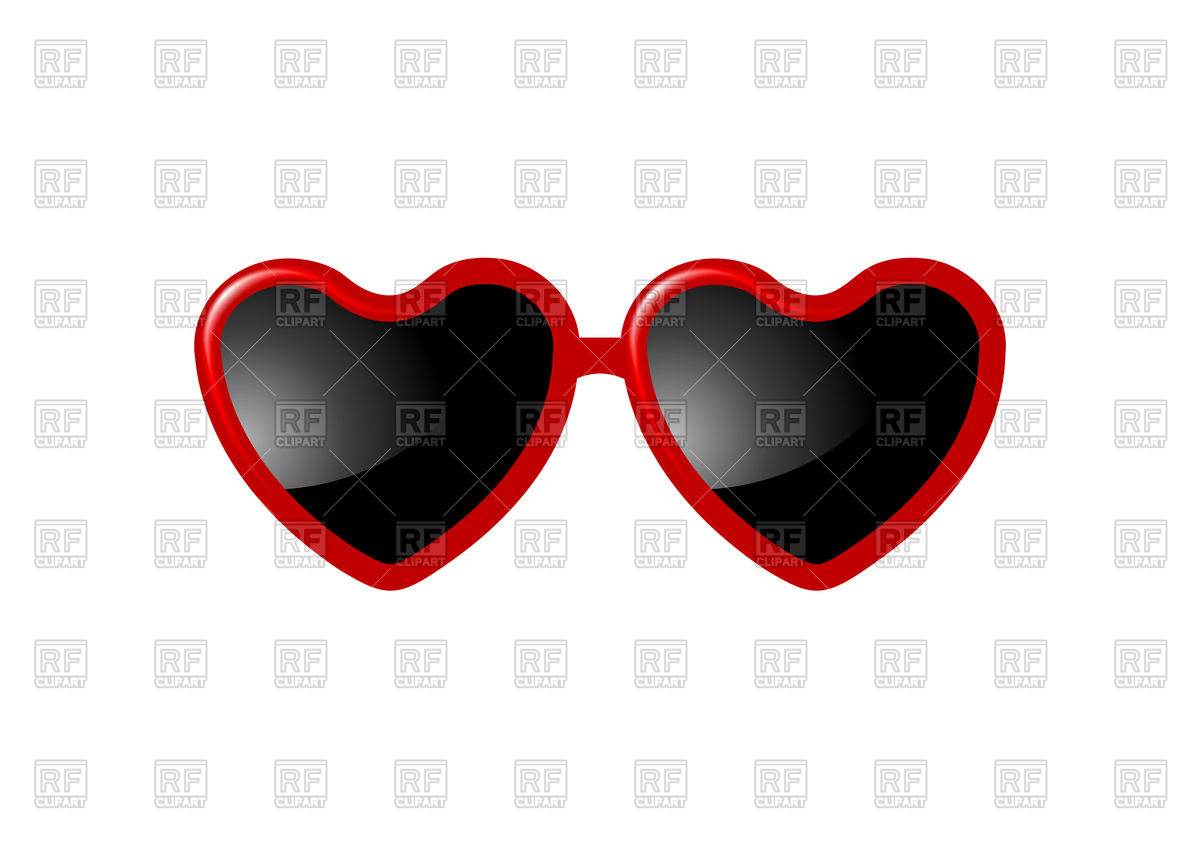 1200x848 Heart Shaped Sunglasses Vector Image Vector Artwork Of Objects