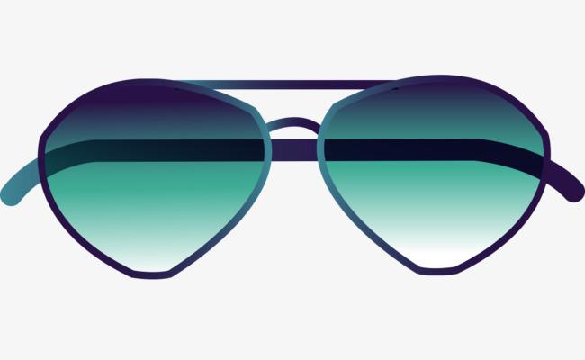 650x400 Vector Cartoon Blue Sunglasses Glasses, Cartoon Vector, Blue