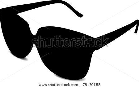 450x284 Black Sunglasses, Vector Clipart Panda