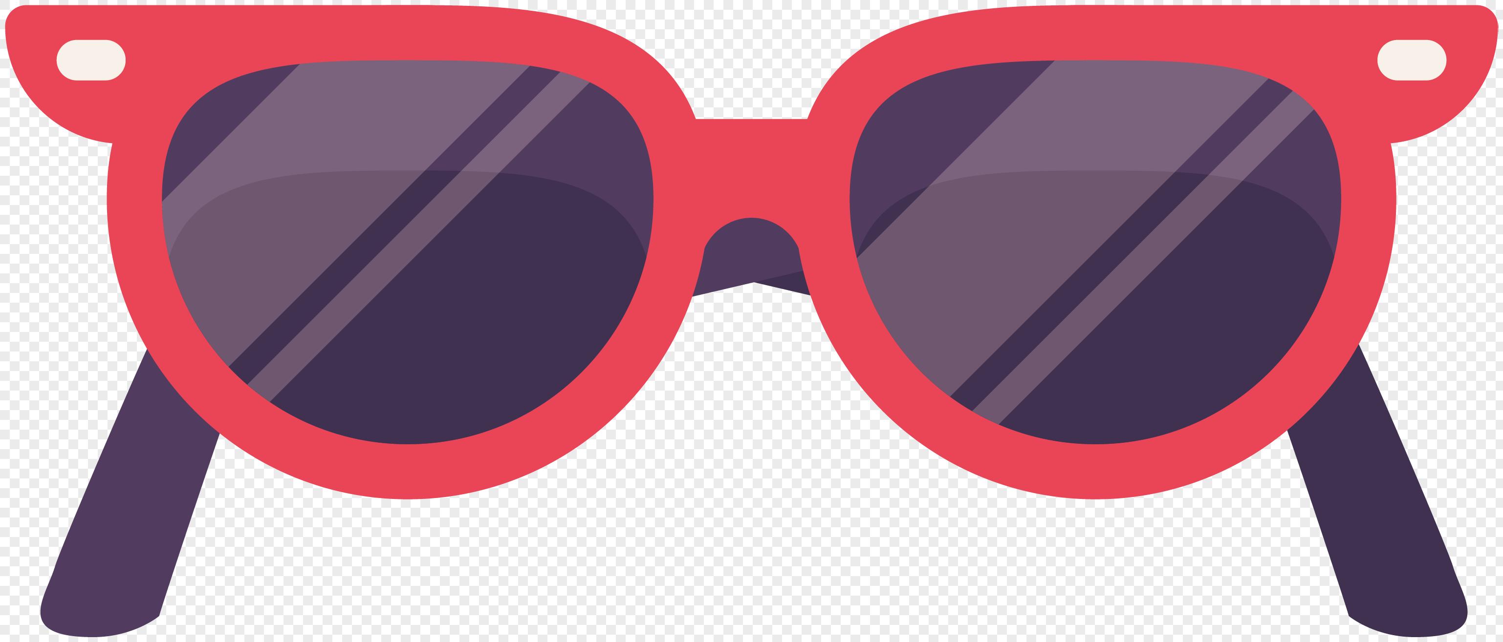 3075x1315 Cool Summer Beach Beach Sunglasses Vector Material Png