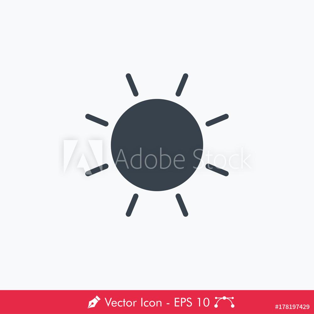 1000x1000 Photo Amp Art Print Brightness (Sun) Icon Vector Europosters