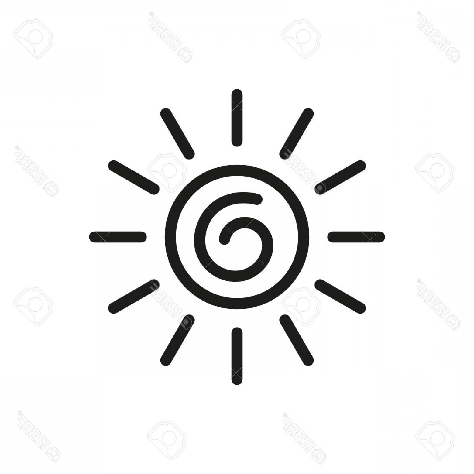 1560x1560 Photostock Vector Simple Sun Icon Vector Illustration Isolated On