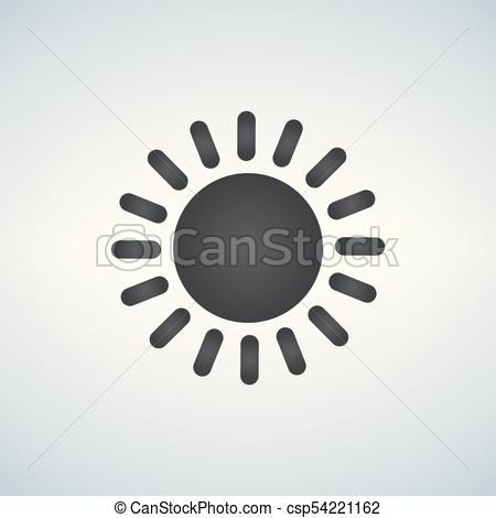 450x470 Simple Sun Icon, Vector Illustration Isolated On White Background