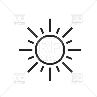 400x400 Sun Icon Vector Image Vector Artwork Of Icons And Emblems