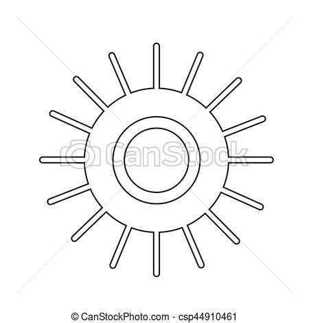 450x470 Sun Icon Clip Art Vector