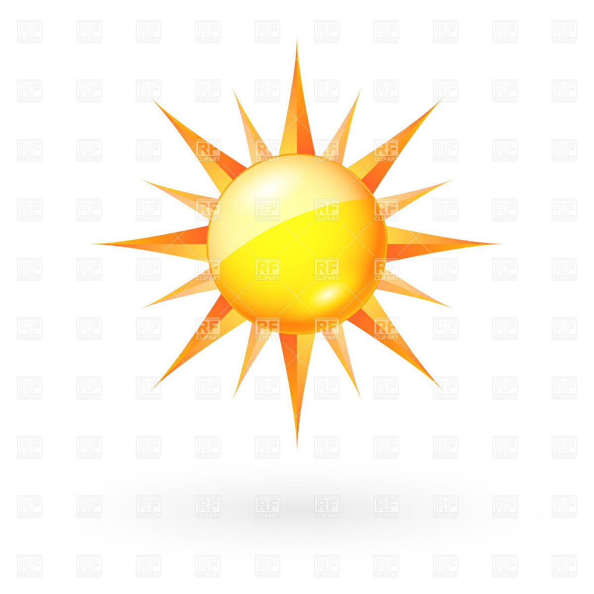 1200x1200 Sun Icon With Straight Beams Vector Image Vector Artwork Of
