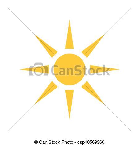 450x470 Sun Icon. Vector Illustration.