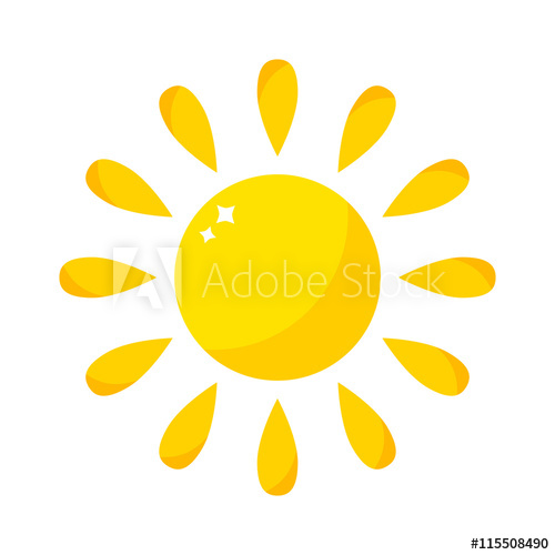 500x500 Vector Sun Icon Isolated On White Background. Sun Vector Isolated