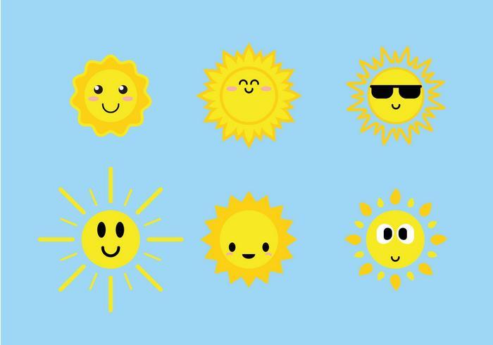 700x490 Cute Sun Icons Vector