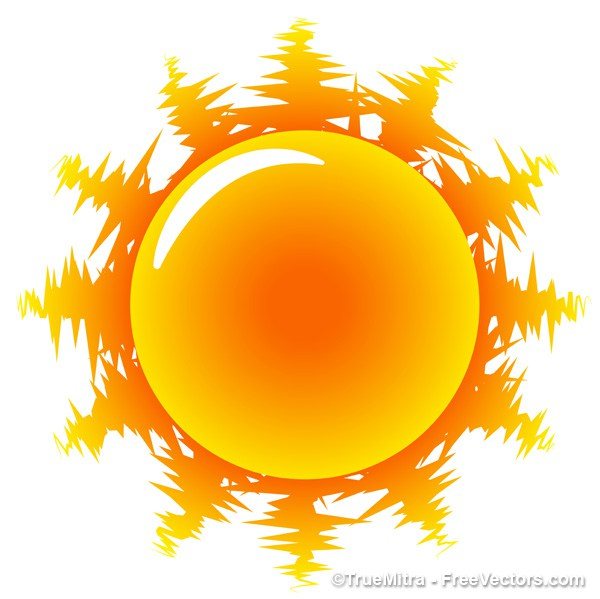 600x599 Download Free Hot Sun Icon Vector Illustration